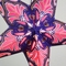 "24"" Pink / Purple Flemenco Glitter Paper Star Lantern, Hanging Decoration"