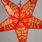 "24"" Red / Gold Monarch Glitter Paper Star Lantern, Hanging Decoration"