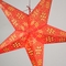 """24"""" Red Winds Gold Glitter Paper Star Lantern, Hanging Decoration"""
