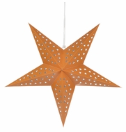 "24"" Solid Orange Cut-Out Paper Star Lantern, Hanging Decoration"