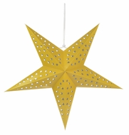 "24"" Solid Yellow Cut-Out Paper Star Lantern, Hanging Decoration"