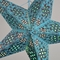 "24"" Turquoise Winds Red Glitter Paper Star Lantern, Hanging Decoration"