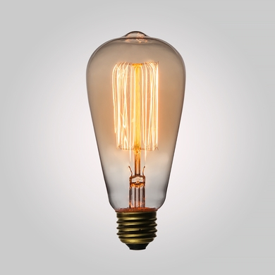 25-Watt Incandescent ST58 Vintage Edison Light Bulb, Squirrel Cage Filament, E26 Base