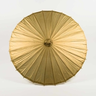 "28"" Gold Paper Parasol Umbrella"
