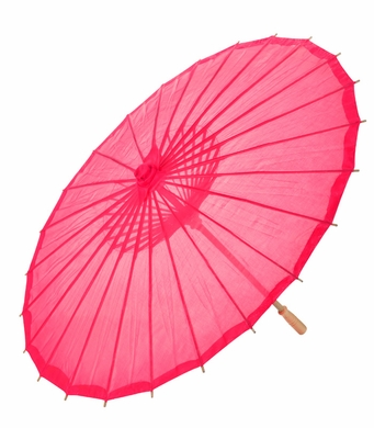 "28"" Hot Pink Parasol Umbrella, Premium Nylon"