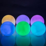 "3"" Mini Ball Color Changing Waterproof LED Orb Rainbow Light, Floating (Battery Operated, Remote Control, 6-PACK)"