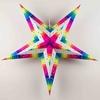 "30"" Large Rainbow Strip Paper Star Lantern, Hanging Decoration"