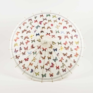 "32"" Butterflies Paper Parasol Umbrella"