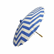 "32"" Dark Blue Chevron Paper Parasol Umbrella"