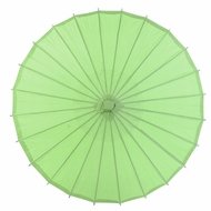 "28"" Grass Green Paper Parasol Umbrella"