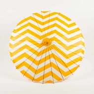 "32"" Orange Chevron Paper Parasol Umbrella (Discontinued)"