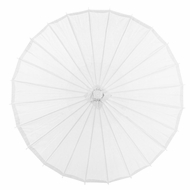 "28"" White Paper Parasol Umbrella"