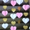 3D Pink and Gold Heart Paper Vertical Garland Banner (6FT)