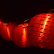 """4"""" Red Nylon Party String Lights"""