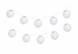 "4"" White Nylon Party String Lights"