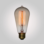 40-Watt Incandescent ST58 Vintage Edison Light Bulb, Squirrel Cage Filament, E26 Base
