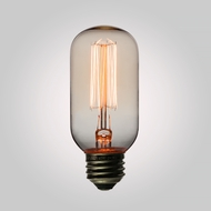40-Watt Incandescent T45 Vintage Edison Light Bulb, Squirrel Cage Filament, E26 Base