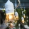 24 Suspended Socket Outdoor Commercial String Light Set, S14 Bulbs, 54 FT White SJTW Cord w/ E26 Medium Base, Weatherproof