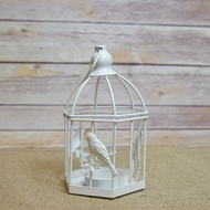 "5.5"" Classical Birdcage Hexagon Tealight Candle Lantern"
