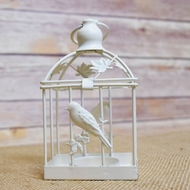 "5"" Classical Birdcage Square Tealight Candle Lantern"