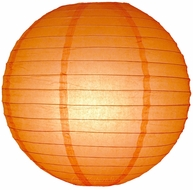 "6"" Orange Round Paper Lantern, Even Ribbing, Hanging Decoration"
