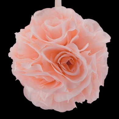 "6"" Rose Quartz Pink Rose Flower Pomander Small Wedding Kissing Ball for Weddings and Decoration"