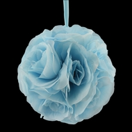 "6"" Serenity Blue Rose Flower Pomander Small Wedding Kissing Ball for Weddings and Decoration"