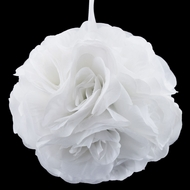 "6"" White Rose Flower Pomander Small Wedding Kissing Ball Decoration"