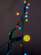 70 Outdoor RGB LED G12 Raspberry String Lights, 23.6 FT Green Cord, Weatherproof, Expandable