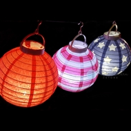"8"" 4th of July Red, White and Blue Battery Operated LED Paper Lantern Light Set (3-PACK)"