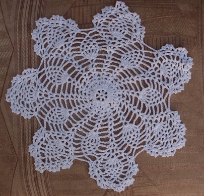 8 Bloom Shaped Crochet Lace Doilies Placemats Handmade Cotton