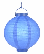 "8"" ""Budget Friendly"" Battery Operated LED Paper Lantern - Dark Blue"