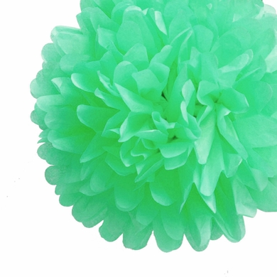 8 cool mint green tissue paper pom pom flowers hanging decorations ez fluff 8 cool mint green tissue paper pom poms flowers balls hanging decorations 4 pack mightylinksfo