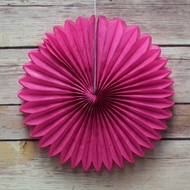 "8"" Fuchsia / Hot Pink Tissue Paper Flower Rosette Fan Decoration (6 PACK)"