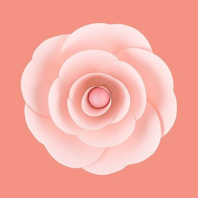 "8"" Ranunculus Pink Paper Flower Backdrop Wall Decor, 3D Premade"
