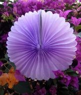 "BLOWOUT 8"" Lavender Tissue Paper Flower Rosette Fan Decoration (6 PACK)"