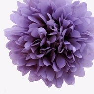 "EZ-Fluff 8"" Lavender Tissue Paper Pom Pom Flowers, Hanging Decorations (4 PACK)"