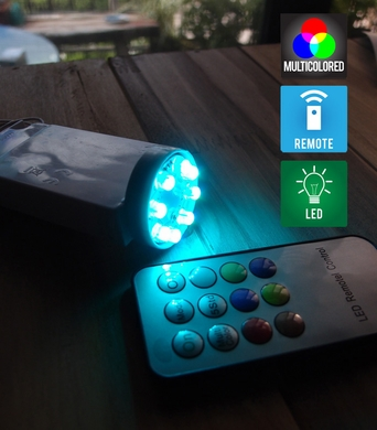 MoonBright™ 8-LED Color Changing Battery Powered Light for Lanterns (Remote Control Sold Separately)