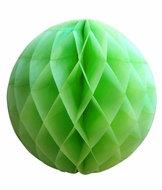 "8"" Light Lime Green Round Tissue Lantern, Honeycomb Ball, Hanging (3 PACK)"