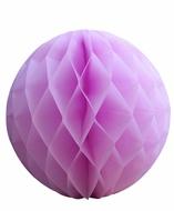"8"" Pink Round Tissue Lantern, Honeycomb Ball, Hanging (3 PACK)"