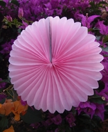 "BLOWOUT 8"" Pink Tissue Paper Flower Rosette Fan Decoration (6 PACK)"