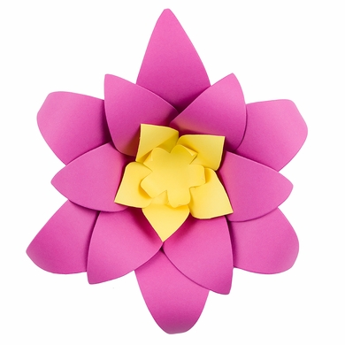 "8"" Pre-Made Fuchsia / Hot Pink Lotus Paper Flower Wedding Backdrop Wall Decor, 3D DIY"