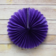 "8"" Royal Purple Tissue Paper Flower Rosette Fan Decoration (6 PACK)"