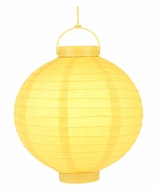 Yellow LED Round Paper Battery Lantern