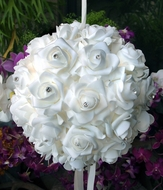 "8"" White Foam Kissing Flower Balls"