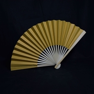 """9"""" Gold Paper Hand Fans for Weddings, Premium Paper Stock (10 PACK)"""