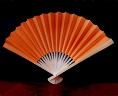 "BLOWOUT 9"" Orange Paper Hand Fans for Weddings (10 PACK)"