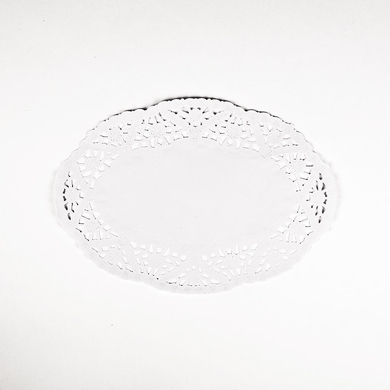 "9"" Oval White Lace Paper Doilies Disposable Party Table Decor (50-PACK)"