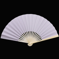 "9"" Periwinkle Lavender Paper Hand Fans for Weddings, Premium Paper Stock (10 PACK)"