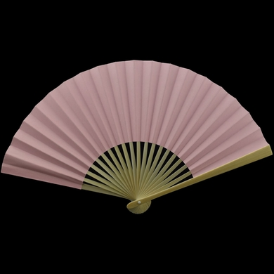 """9"""" Pink Paper Hand Fans for Weddings, Premium Paper Stock (10 Pack)"""